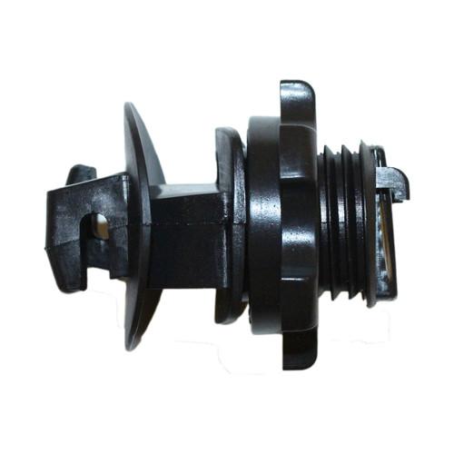 Screw On Round Post Insulators - Black, 25 or 250 pack