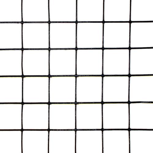 "8' x 100' Welded Wire-19 ga. galvanized steel core; 17 ga after Black PVC-Coating, 1"" x 1"" Mesh"