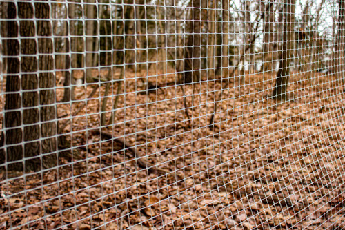 """6' x 100' Trident Multi-Purpose Poly Fence 1"""" x 1"""" Mesh with Reinforced Bottom - Gray"""