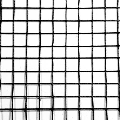 "6' x 100' 19 Gauge Galvanized Steel Black PVC Coated Hardware Cloth 0.5"" x 0.5"" Mesh"