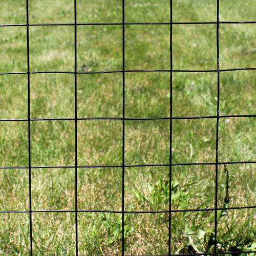 """4' x 100' Welded Wire Fence-12.5 ga. galvanized steel core;  10.5 ga. after Black PVC-Coating, 3"""" x 3"""" Mesh"""