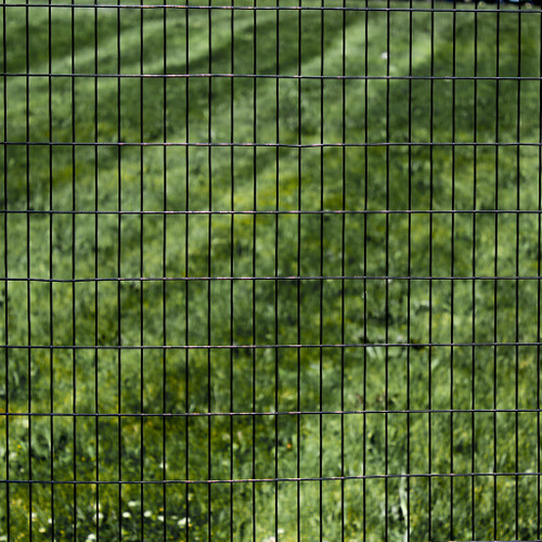 """6' x 100' Welded Wire Fence-14 ga. galvanized steel core;12 ga after Black PVC-Coating, 1"""" x 3"""" Mesh"""