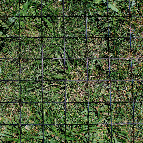 """4' x 100' Welded Wire Fence-12.5 ga. galvanized steel core; 10.5ga after Black PVC-Coating, 4"""" x 4"""" Mesh"""