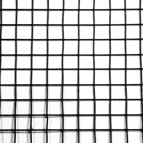 "2' x 100' 19 Gauge Galvanized Steel Black PVC Coated Hardware Cloth 0.5"" x 0.5"" Mesh"