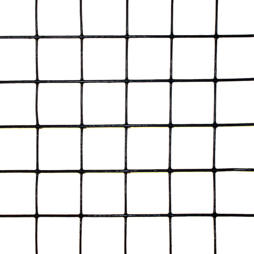 "Scratch & Dent - 6' x 100' Welded Wire-19 ga. galvanized steel core; 17 ga after Black PVC-Coating, 1"" x 1"" Mesh"