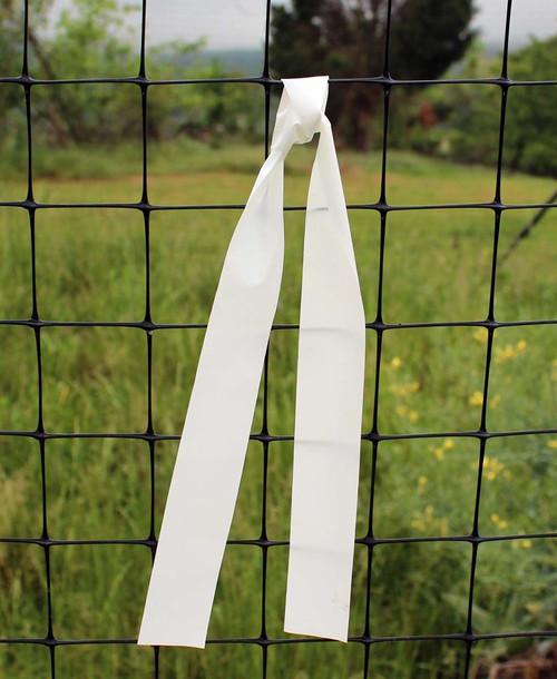 white warning banners