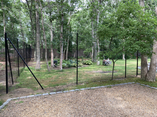 "8' High Welded Wire Deer Fence Kit-2"" x 4"" Mesh"