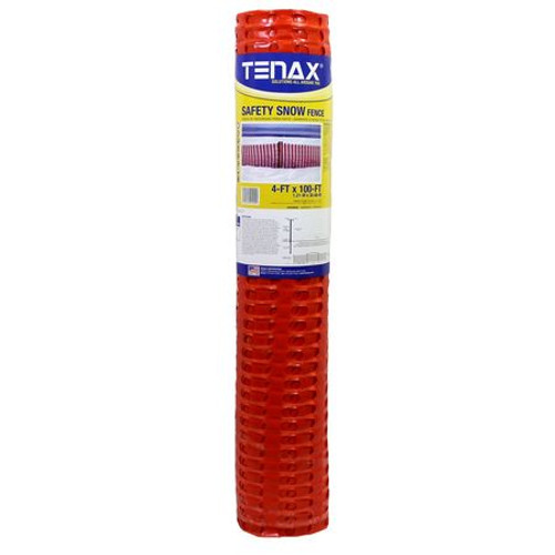 4' x 100' Tenax Snow Guard Fence- Orange