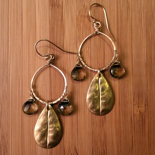 Choose your own gemstone for these dreamcatcher inspired earrings.