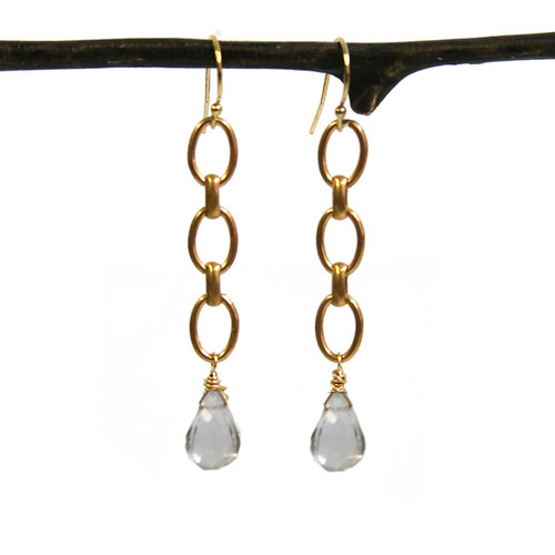 Gatewood Chain & Gemstone Earrings
