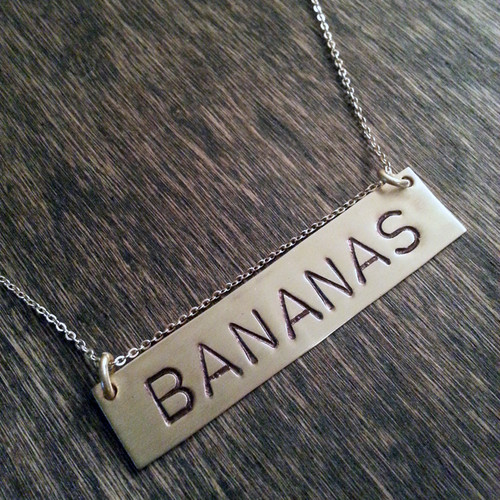 Name plate necklace - 14kgf