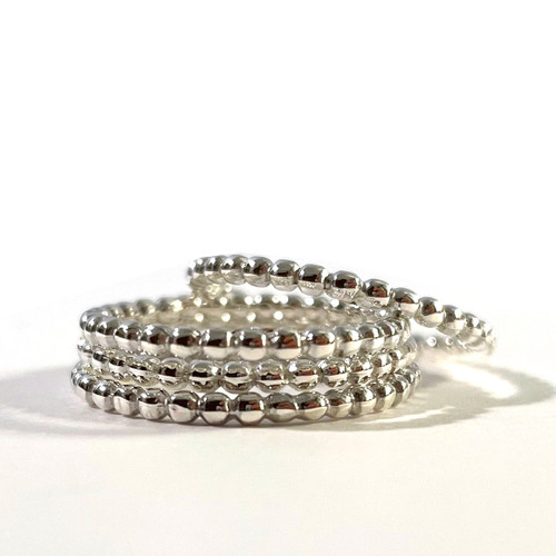 Beaded Band Sterling