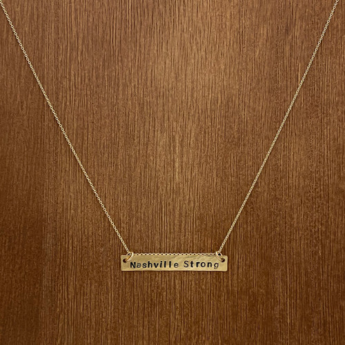 Nashville Strong Bar Necklace