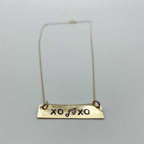 Nashville Strong XO Bar Necklace