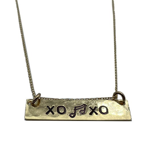Nashville Strong XO Bar Necklace