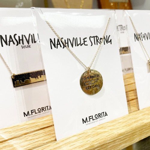 Nashville Strong State Necklace