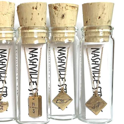 Nashville Hearts TN Necklace in a Bottle