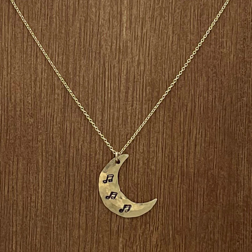 Music/Moon Necklace in a Bottle