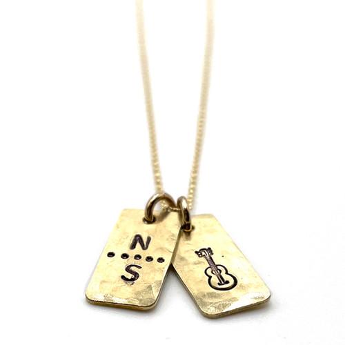 Nashville Strong Guitar Necklace in a Bottle