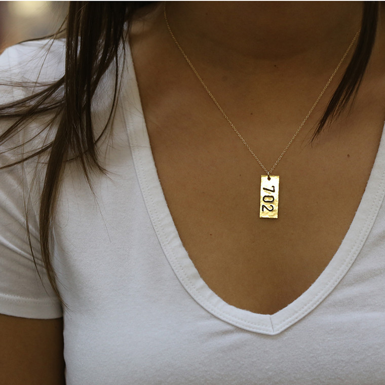 Area Code Necklace