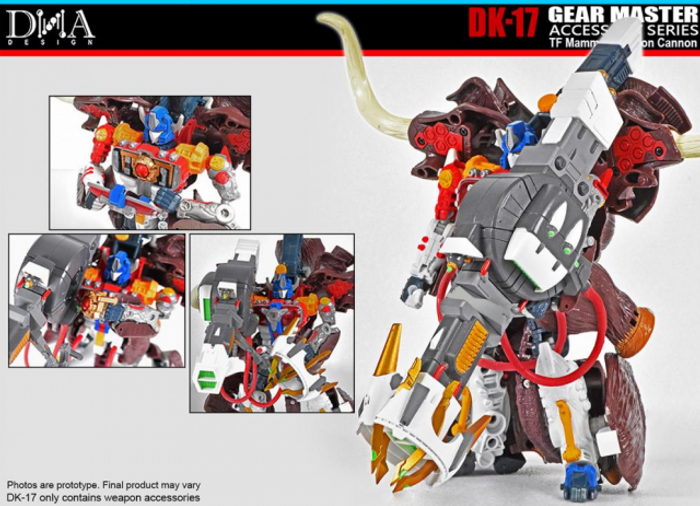 DNA Design - DK-17 Gear Master Accessory Series Mammoth Fusion Cannon