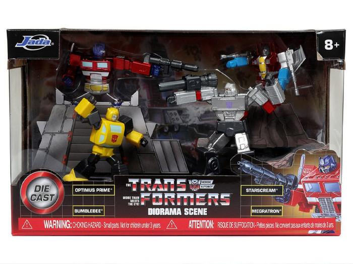 Jada Toys - Transformers G1 - Metalfigs Diorama Scene Box Set