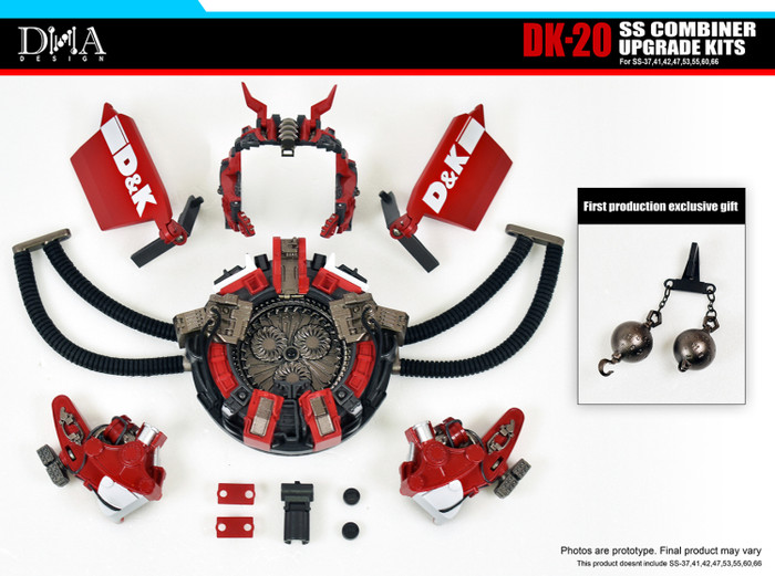 DNA Design - DK-20 Studio Series Combiner Devastator Upgrade Kit