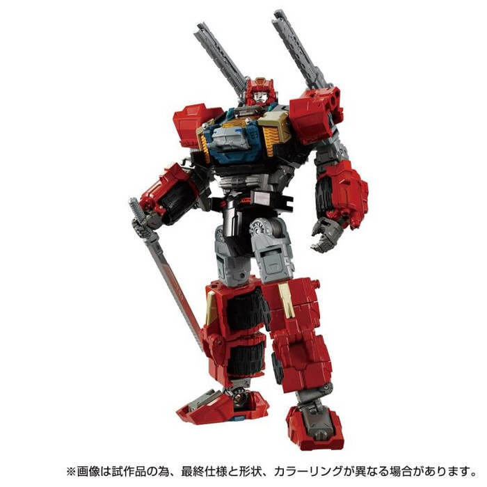 Diaclone Reboot - DA-69 Triverse Tridasher [Sun Burst Version] Exclusive