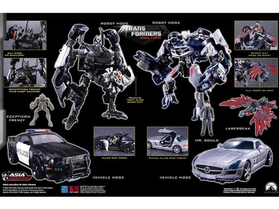 APS-03 Decepticon Barricade & Soundwave Two Pack With Mini Boombox
