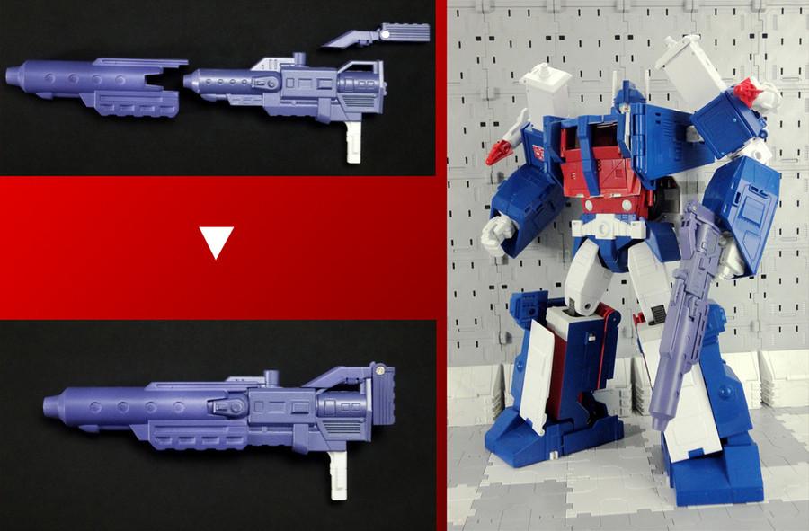 X2 Toys - XT007 MP-22 Ultra Magnus - Blaster & Shoulder Upgrade Kit