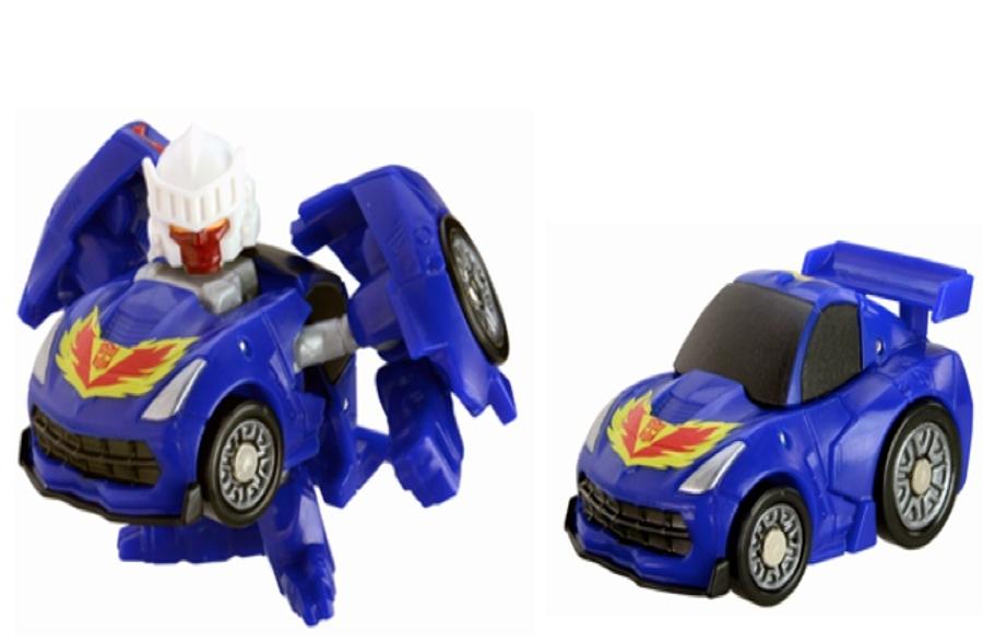 Q Transformers - QT17 Tracks Silver Corvette C7