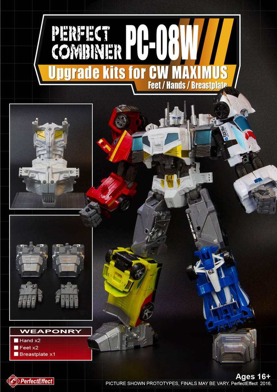 Perfect Effect - PC-08W Perfect Combiner Upgrade Set for Combiner Wars Optimus Maximus