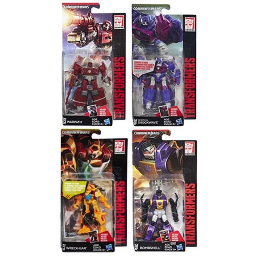 Transformers Generations Combiner Wars Legends Wave 6 - Set of 4 (Shockwave, Warpath, Wreckgar, Bombshell)