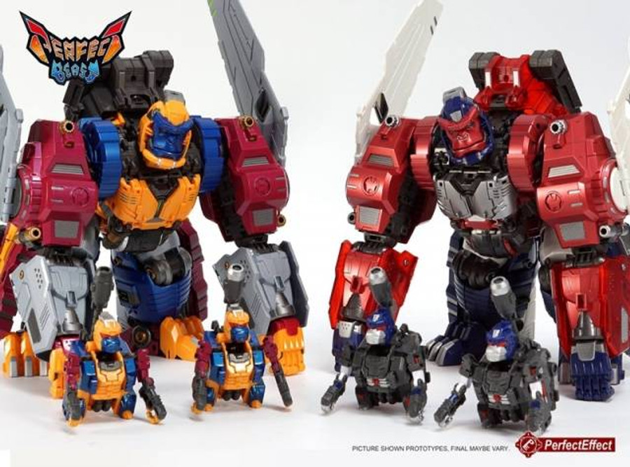 Perfect Effect - PC-19B Perfect Combiner Black Beast Gorira Jr. 2-Pack