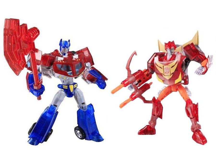 Animated Sons of Cyberton Optimus Prime and Rodimus Crystal Set