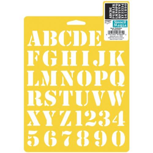 Alphabet stencils