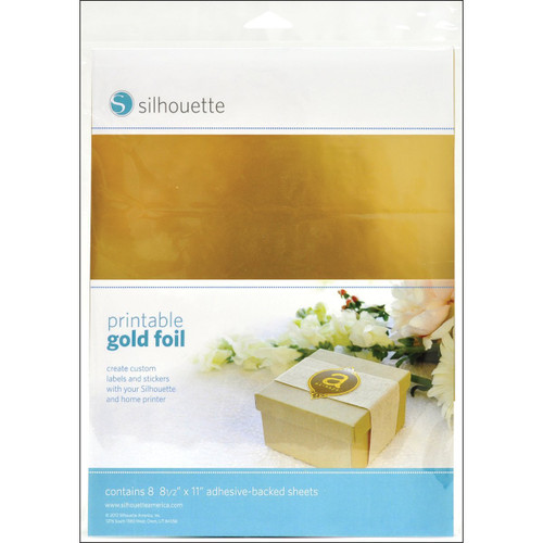 Silhouette Printable Gold Foil