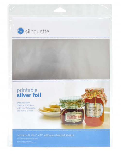 Silhouette Printable SIlver Foil
