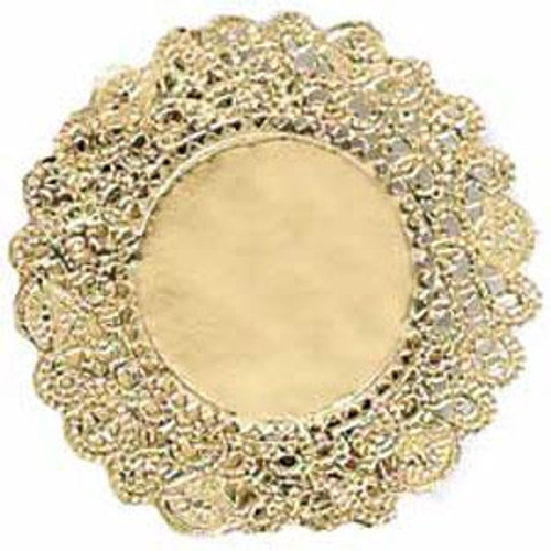 "Gold doilies - 12"" round"