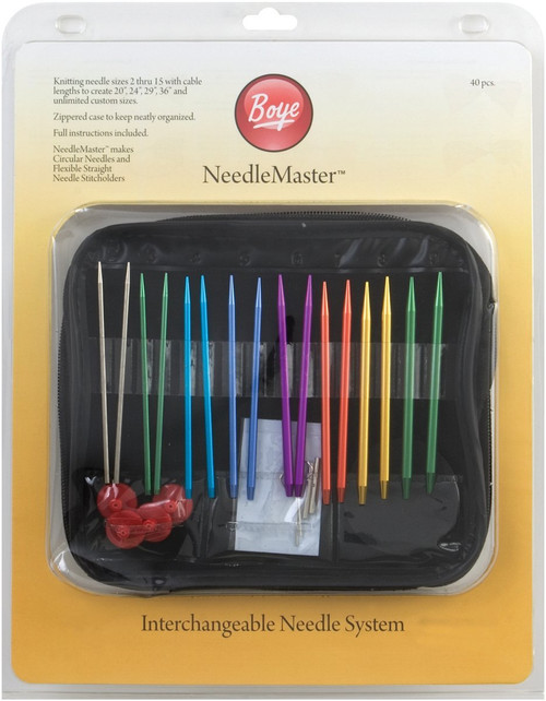 Needlemaster 40-Piece Interchangeable Aluminum Knitting Set