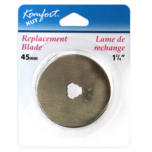 """KOMFORT KUT Replacement Blade for Rotary Cutter - 45mm (13⁄4"""") packaging"""