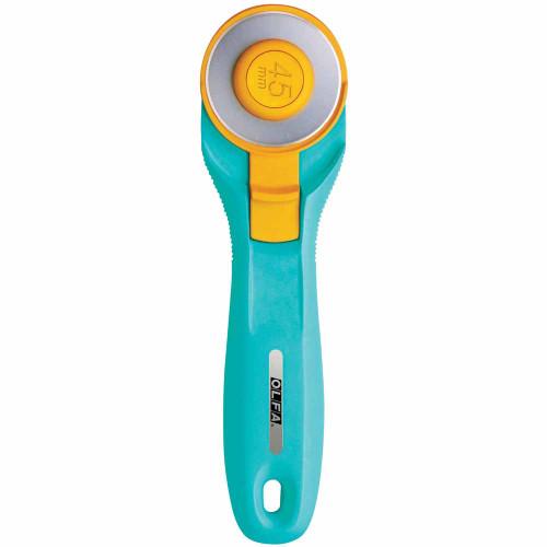 OLFA RTY-2/C - Splash Handle Rotary Cutter 45mm - Aqua