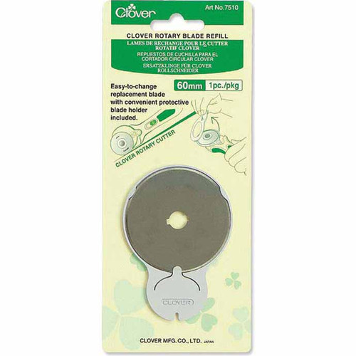 "CLOVER 7510 - Rotary Cutter Blade Refills 1 pc. - 60mm (21⁄4"") in packaging"