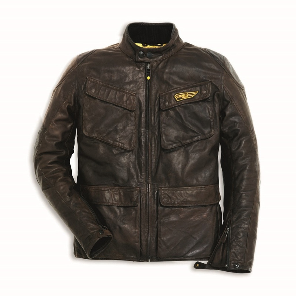 Ducati Scrambler Quattrotasche Men's Leather Jacket