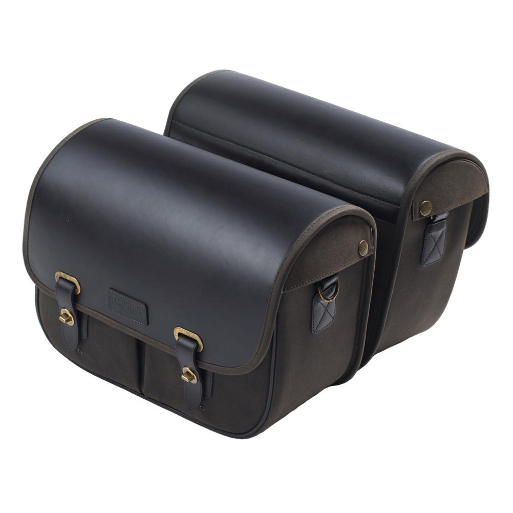 Triumph Bonneville Waxed Cotton Saddlebags