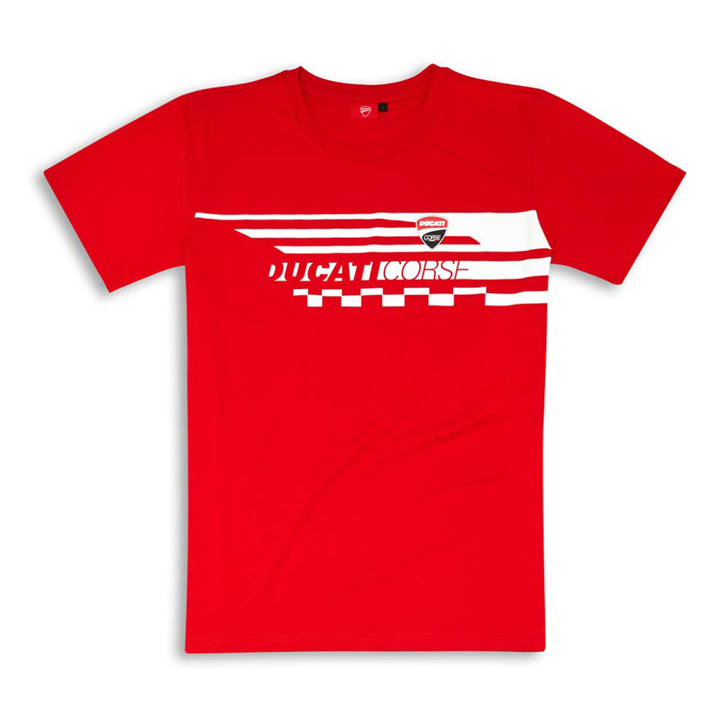 Ducati Corse Red Check T-Shirt