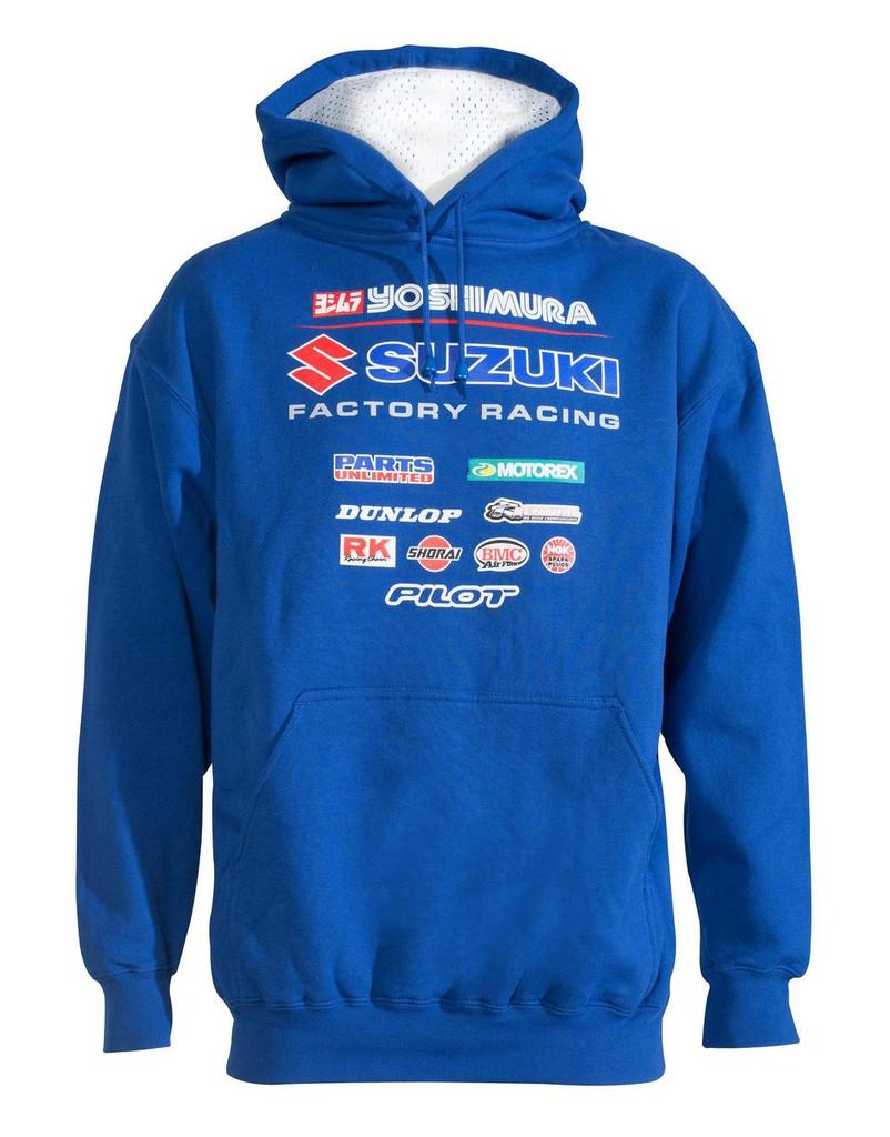 Yoshimura Suzuki Factory Racing Team Hoodie (Blue)