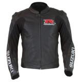 Suzuki GSX-R Perforated Leather Jacket (Black)