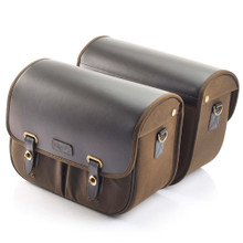 Triumph Olive Waxed Cotton Saddlebags