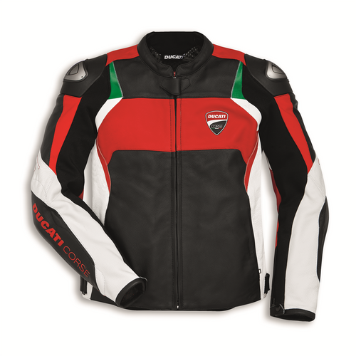 Ducati Corse C3 Perforated Leather Jacket by Dainese (Red)
